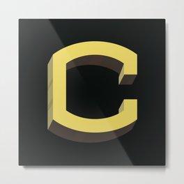 Type Seeker - C Metal Print