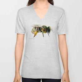 Bee, bee design honey bee, honey making Unisex V-Neck
