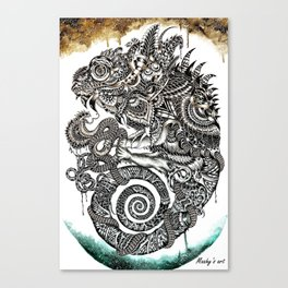 Lizard - Maahy Canvas Print