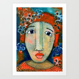 Mixed Media - When I think of angels I think of you.. Art Print