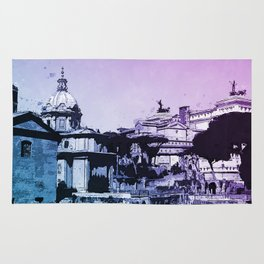 The Imperial Fora, Rome Rug