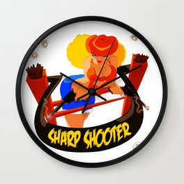 Sharp Shooter Wall Clock