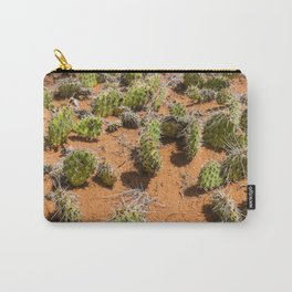 Green and Orange Cacti Carry-All Pouch