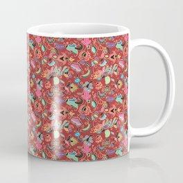 Batik Kebaya Red SQ Coffee Mug