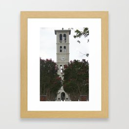 Furman tower Framed Art Print