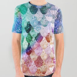 REALLY MERMAID FUNKY All Over Graphic Tee