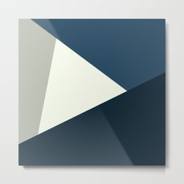 Retro Abstract Triangles 16 Metal Print