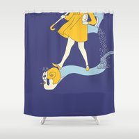 fear Shower Curtains featuring Fear by Max Dubovoy