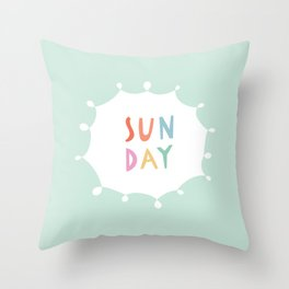 Sunday in Mint Throw Pillow