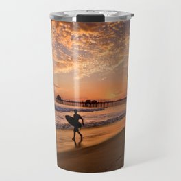 Surf City Sunsets   9/10/15   Huntington Beach California  Travel Mug
