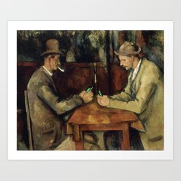 The card players Art Print