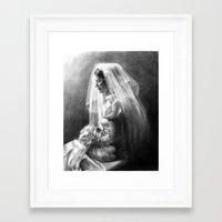 bride Framed Art Prints featuring Bride by Hugo F G