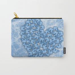 Butterflies gathering for romance in blue Carry-All Pouch