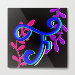 F for flowers Metal Print
