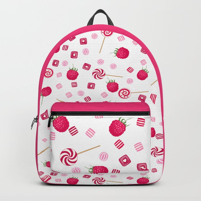 Candy sweets lollipops Raspberry Backpack