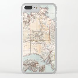 Australian Topography Map (1911) Clear iPhone Case