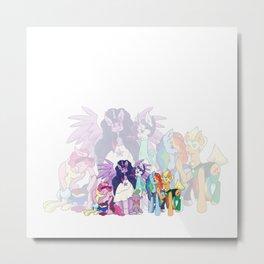 Pony Gems Metal Print