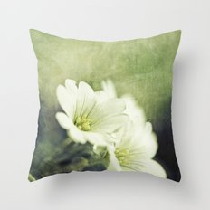 pretty in green. Throw Pillow