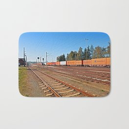 Summerau railway station | architectural photography Bath Mat