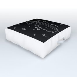 Floral Starry Sword Design Outdoor Floor Cushion
