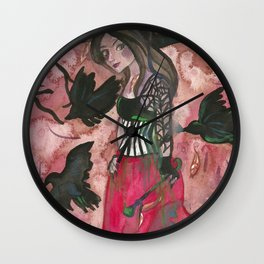 Raven Witch Wall Clock