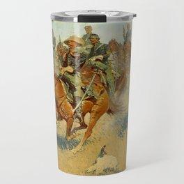 "Frederic Remington Western Art ""On the Southern Plains"" Travel Mug"