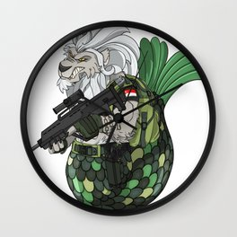Mermaid and Lion Singapore Navy Gift Wall Clock