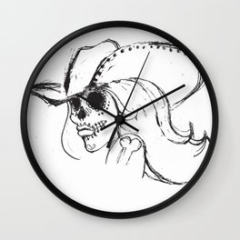Day of the Dead Cowgirl Wall Clock