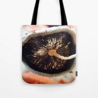 mushroom Tote Bags featuring Mushroom by UMe Images