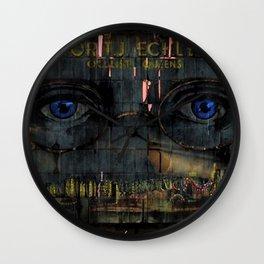 The Eyes of God Portrait by Jeanpaul Ferro Wall Clock