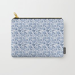 Blue Hydrangea Smaller Pattern Carry-All Pouch