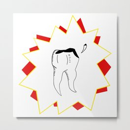 Chipped Tooth Metal Print