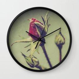 Blushing Bud Wall Clock