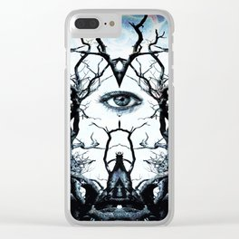 Tree of Life Archetype Religious Symmetry Clear iPhone Case