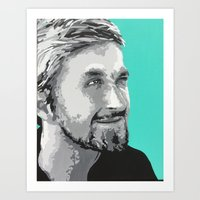 ryan gosling Art Prints featuring Ryan Gosling by megan matthews