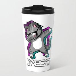 Dab Cat Glitch Travel Mug