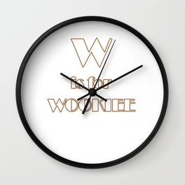 W is for Wookie T-shirt Wall Clock