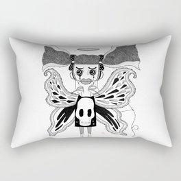 Butterfly Girl Rectangular Pillow