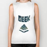 geek Biker Tanks featuring GEEK by YTRKMR