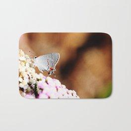 Gray Hairstreak Butterfly Bath Mat