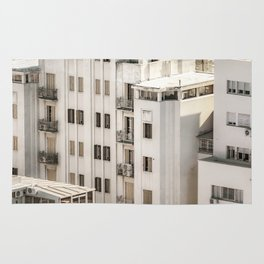 Montevideo Cityscape Aerial View Rug