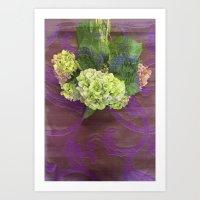 hydrangea Art Prints featuring hydrangea by Federico Faggion