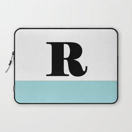 Monogram Letter R-Pantone-Limpet Shell Laptop Sleeve