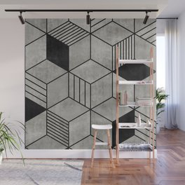 Concrete Cubes 2 Wall Mural