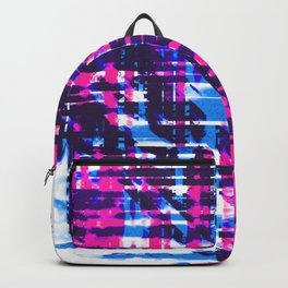 Aesthetic Urban Abstract Visual Art Retro Night Party Backpack