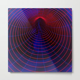 Red-blue wormhole Metal Print