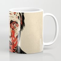 christopher walken Mugs featuring Walken Dead by Chase Kunz