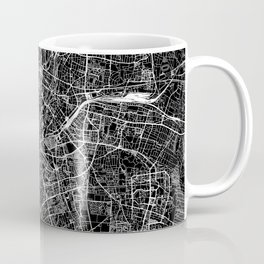 Munich Black Map Coffee Mug