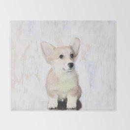 Corgi Puppy Throw Blanket