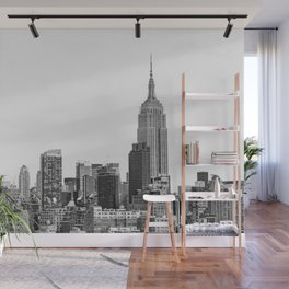 The New York Cityscape City (Black and White) Wall Mural